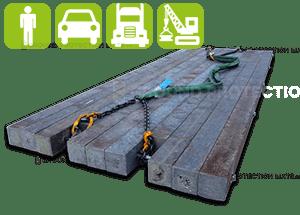 Plastic bog mats