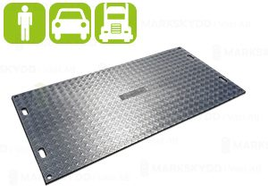 Temporary ground protection mats