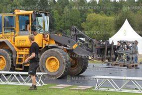 preparation outdoor festival